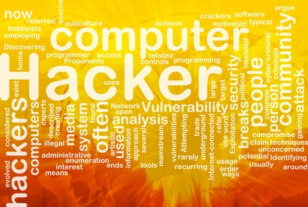 vulnerability: Background concept illustration of computer hacker attack international