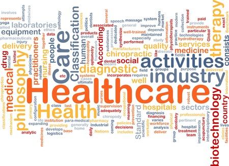 enfermedades mentales: Ilustraci�n de wordcloud concepto de fondo de asistencia sanitaria Foto de archivo