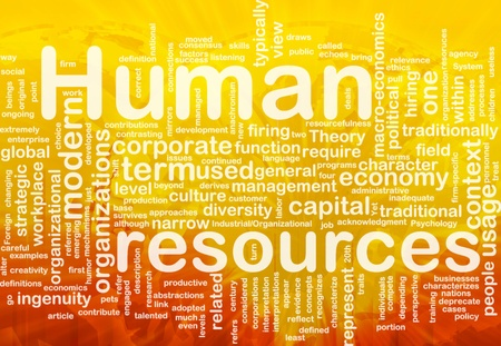 Human Resource: Background concept illustration of human resources management international