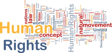 declaration: Background concept wordcloud illustration of human rights