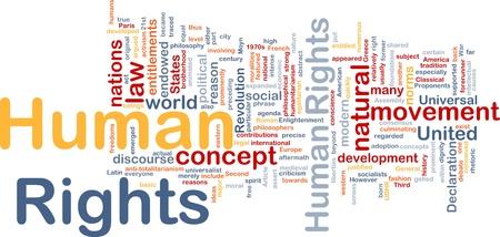 derechos humanos: Ilustraci�n de wordcloud concepto de fondo de los derechos humanos Foto de archivo