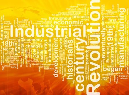 socioeconomic: Word cloud concept illustration of industrial revolution international