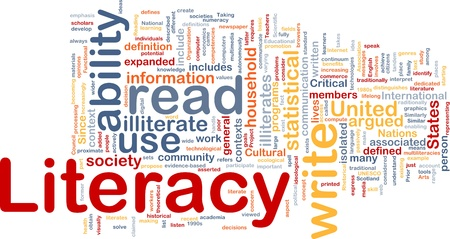 contexts: Background concept wordcloud illustration of literacy