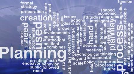 actividad econ�mica: Ilustraci�n de concepto de nube de palabra del proceso internacional de planificaci�n Foto de archivo