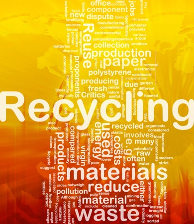 energy management: Background concept illustration of recycling waste materials international