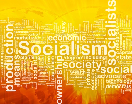libertarian: Word cloud concept illustration of socialism economy international Stock Photo