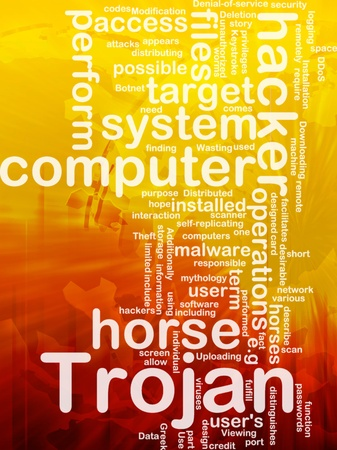 Background concept illustration of computer trojan horse international illustration
