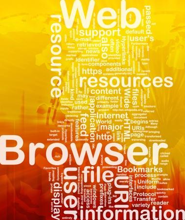 Background concept illustration of internet web browser international Stock Illustration - 9914765