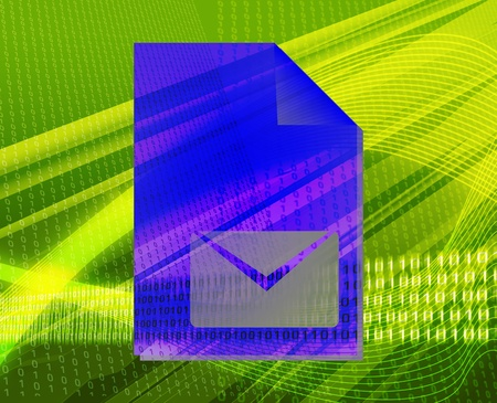 encrypted files icon: Document mail letter line graph types concept background illustration