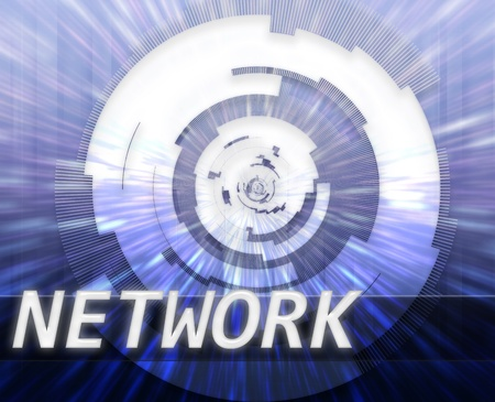 technlogy: Internet broadband data information communications network technology concept illustration