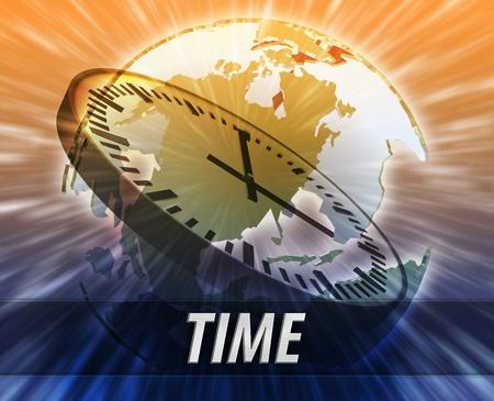 time zones: America international business time logistics management concept background