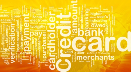 sufficient: Word cloud concept illustration of credit card international