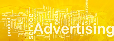persuasive: Word cloud concept illustration of media advertising international