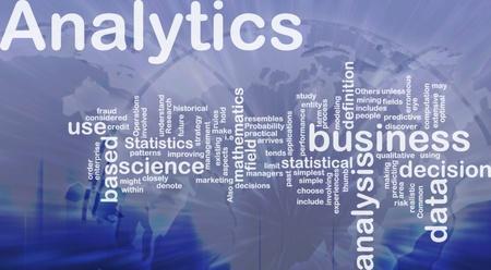 predictive: Background illustrazione concetto di analisi di business analytics internazionale Archivio Fotografico