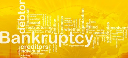 inability: Word cloud concept illustration of financial bankruptcy international