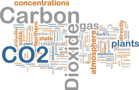 carbonates: Background concept illustration of carbon dioxide co2 gas