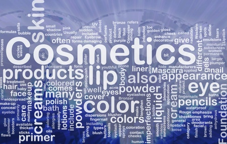 glowing skin: Background concept illustration of cosmetics beauty products international