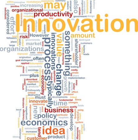 productive: Background concept illustration of business innovation change Stock Photo