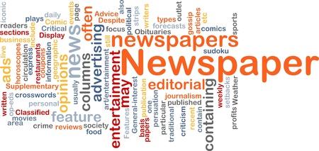 interst: Background concept illustration of newspaper news paper