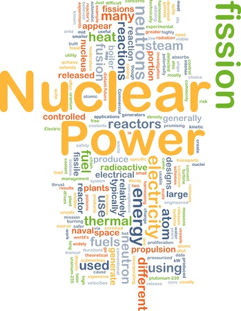 nuclear fission: Background concept illustration of nuclear power energy Stock Photo