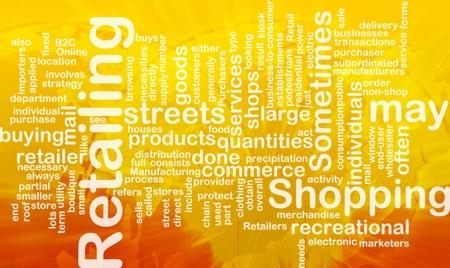 Word cloud concept illustration of retailing retail international Stock Illustration - 9914914