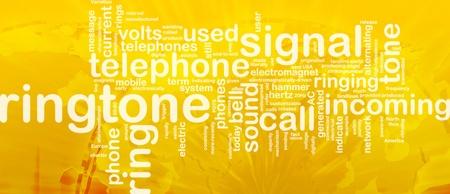 Word cloud concept illustration of telephone ringtone international Stock Illustration - 9914837