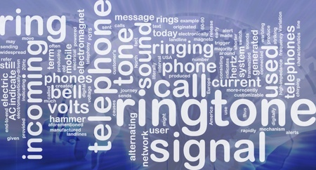 Word cloud concept illustration of telephone ringtone international Stock Illustration - 9914690