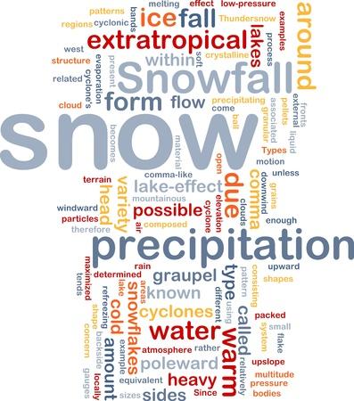 precipitaci�n: Wordcloud concepto de fondo la ilustraci?n de nieve precipitaci?n de nieve
