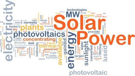 Background concept illustration of solar power energy illustration