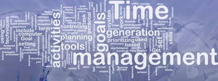 Word cloud concept illustration of time management international Stock Illustration - 9914839