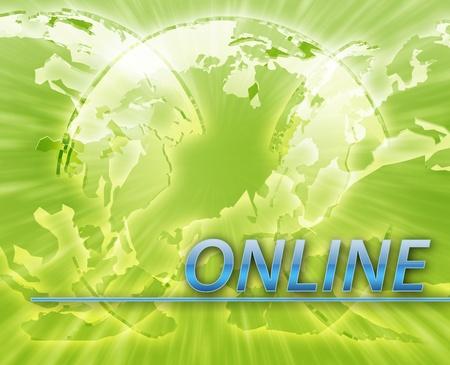 Technology internet online web communication abstract concept illustration Stock Illustration - 9915018