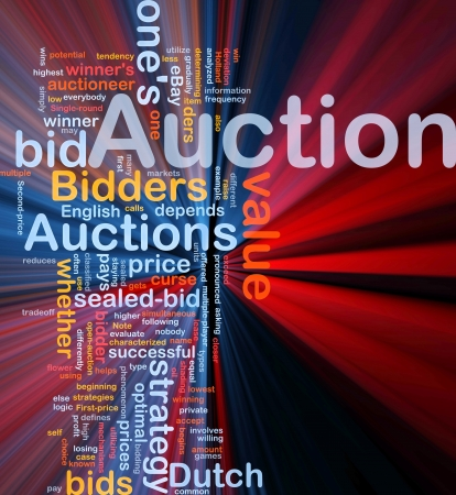 optimal: Background concept illustration of Auction bid sale glowing light