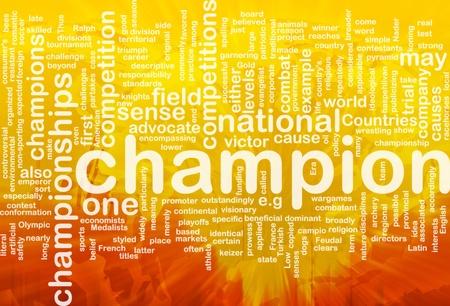 Ilustraci�n de wordcloud concepto de fondo de Campe�n Internacional Foto de archivo - 9915126