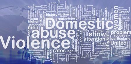 Concept diagram wordcloud illustration of domestic violence abuse international Stock Illustration - 9915036