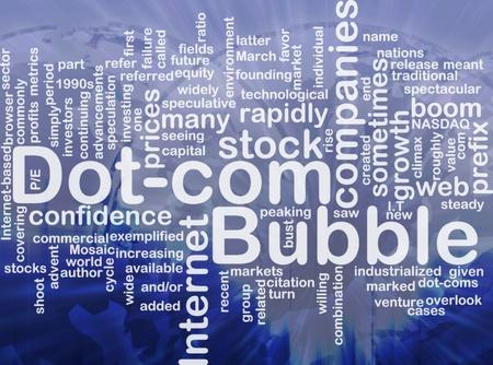 prefix: Background concept wordcloud illustration of dot-com bubble international