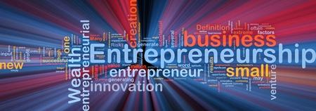 Tło ilustracja koncepcja przedsiębiorcy przedsiębiorczości świecące światło