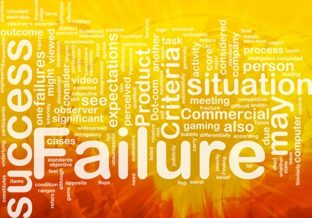 difficult situation: Background concept wordcloud illustration of failure international Stock Photo