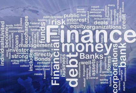 lenders: Concept diagram wordcloud illustration of finance money funds international