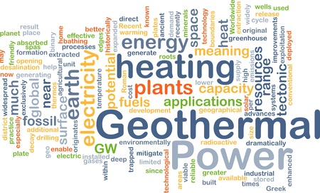 conventional: Background concept illustration of geothermal heating power