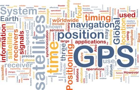global navigation system: Background concept wordcloud illustration of GPS Global positioning