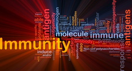 transfused: Background concept wordcloud illustration of medical health immunity  glowing light