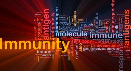 inmunidad: Ilustraci�n de wordcloud concepto de fondo de la luz resplandeciente de salud m�dica inmunidad Foto de archivo