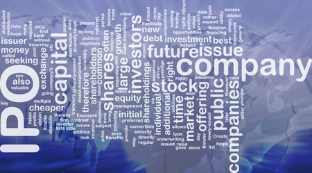 public offering: Background concept wordcloud illustration of company IPO international