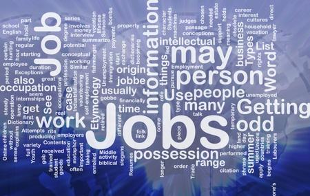 pursue: Background concept illustration of jobs work employment international