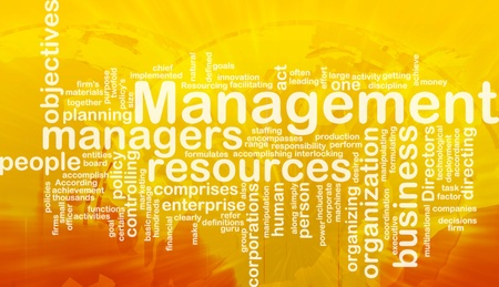 staffing: Word cloud concept illustration of business management international