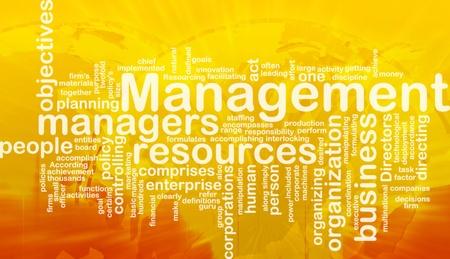 directing: Word cloud concept illustration of business management international