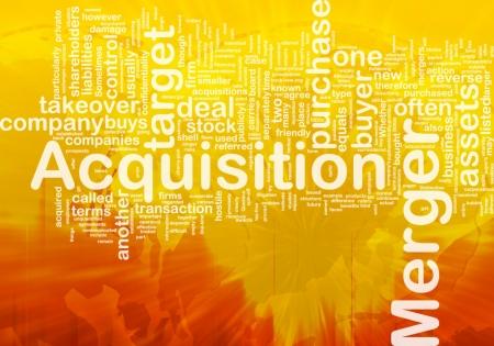 Background concept wordcloud illustration of merger acquisition international illustration