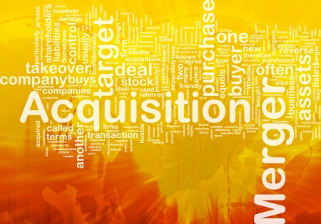 purchased: Background concept wordcloud illustration of merger acquisition international