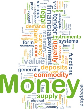 value system: Background concept illustration of financial money payment