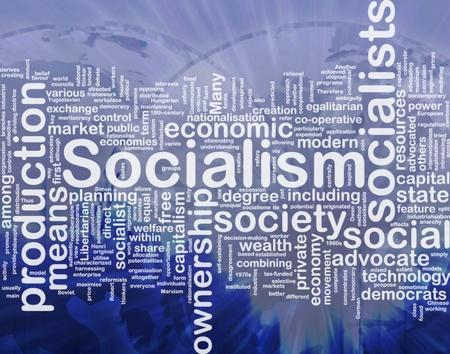 egalitarian: Word cloud concept illustration of socialism economy international Stock Photo